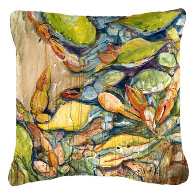 Jubilee Crabs Indoor/Outdoor Throw Pillow Size: 14 H x 14 W x 4 D
