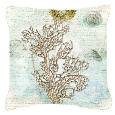 Coral Indoor/Outdoor Throw Pillow Size: 14 H x 14 W x 4 D