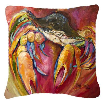 Crab Stars Indoor/Outdoor Throw Pillow Size: 14 H x 14 W x 4 D