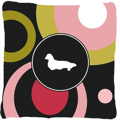 Dachshund Polka Dots Square Indoor/Outdoor Throw Pillow