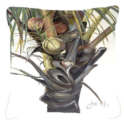 Coconut Tree Top Indoor/Outdoor Throw Pillow Size: 14 H x 14 W x 4 D