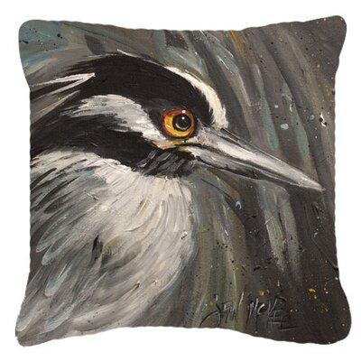 Night Heron Indoor/Outdoor Throw Pillow Size: 18 H x 18 W x 5.5 D
