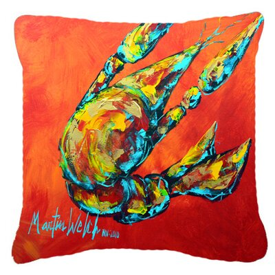 Crawfish Spicy Craw Indoor/Outdoor Throw Pillow Size: 18 H x 18 W x 5.5 D