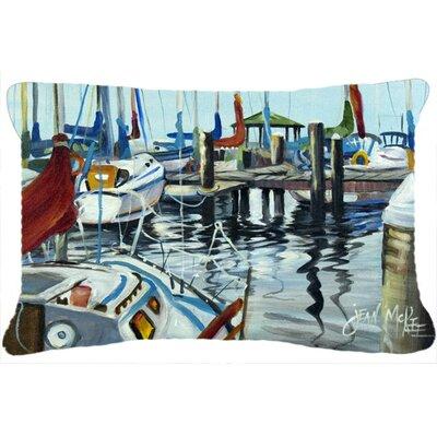 Orange Sail Sailboats Indoor/Outdoor Throw Pillow