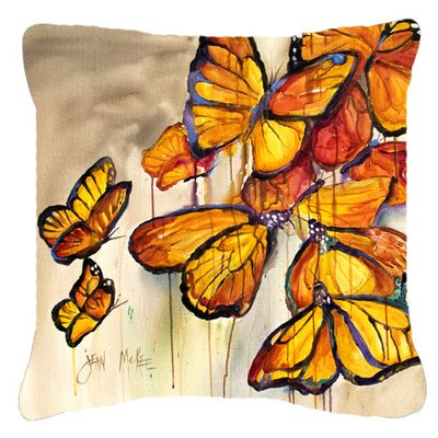Butterflies Indoor/Outdoor Throw Pillow Size: 14 H x 14 W x 4 D