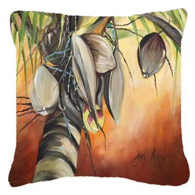 Miconia Square Coconut Tree Indoor/Outdoor Throw Pillow Size: 14 H x 14 W x 4 D
