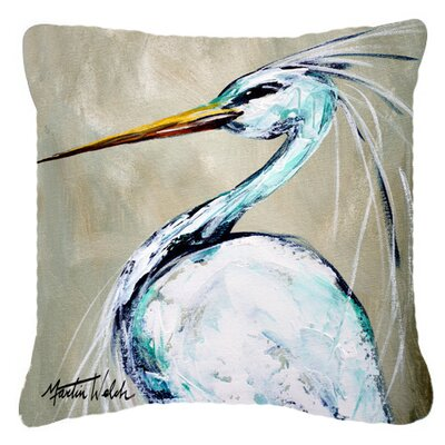 Blue Heron Smittys Brother Indoor/Outdoor Throw Pillow Size: 14 H x 14 W x 4 D