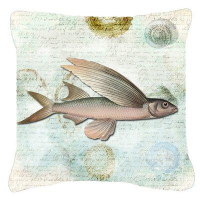 Fish Indoor/Outdoor Throw Pillow Size: 14 H x 14 W x 4 D