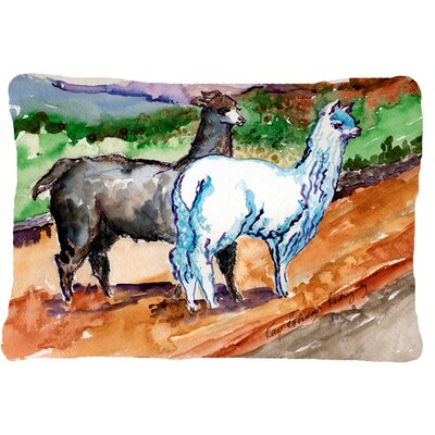 Llama Indoor/Outdoor Throw Pillow