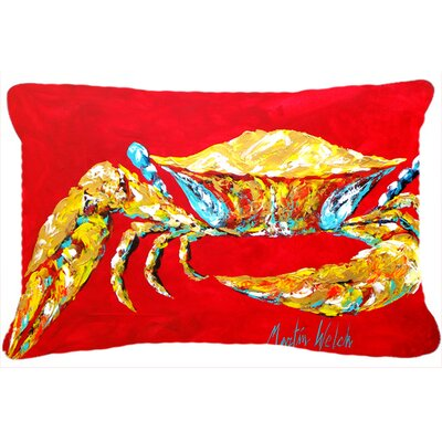 Crab Blue, Sr Indoor/Outdoor Throw Pillow