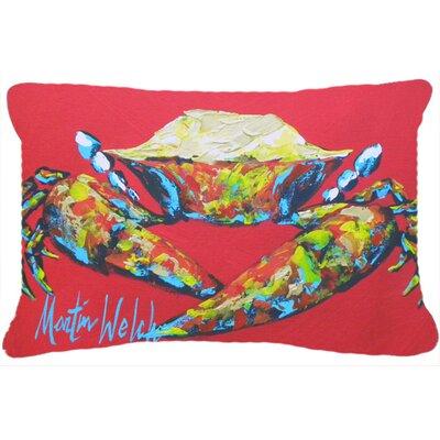 Crab Seafood Indoor/Outdoor Throw Pillow