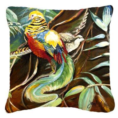 Mandarin Pheasant Indoor/Outdoor Throw Pillow Size: 14 H x 14 W x 4 D