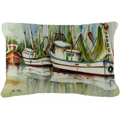 Ocean Springs Shrimper Indoor/Outdoor Throw Pillow