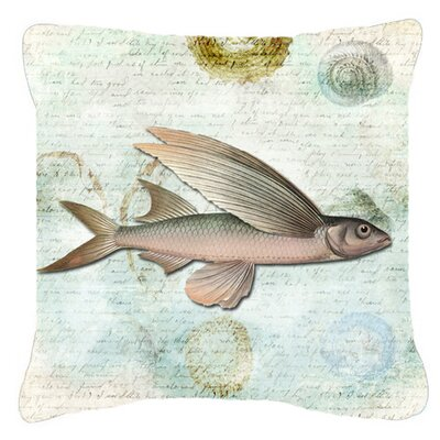 Fish Indoor/Outdoor Throw Pillow Size: 18 H x 18 W x 5.5 D