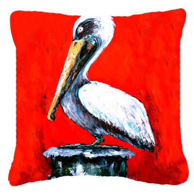 Pelican Red Dawn Indoor/Outdoor Throw Pillow Size: 14 H x 14 W x 4 D