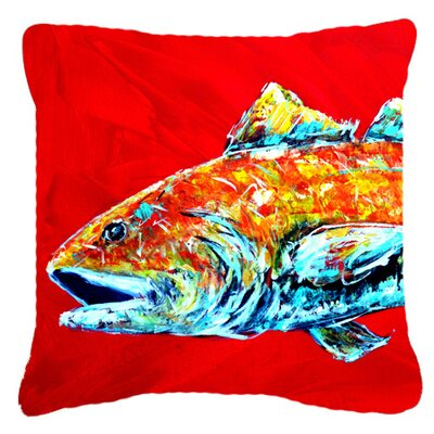 Red Fish Alphonzo Head Indoor/Outdoor Throw Pillow Size: 14 H x 14 W x 4 D