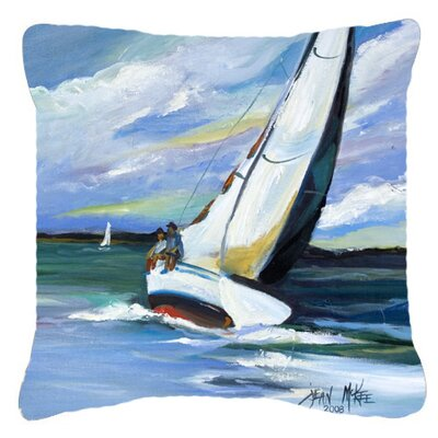 Two and A Sailboat Indoor/Outdoor Throw Pillow Size: 18 H x 18 W x 5.5 D