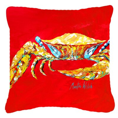Coastal Crab Blue, Sr Indoor/Outdoor Throw Pillow Size: 18 H x 18 W x 5.5 D