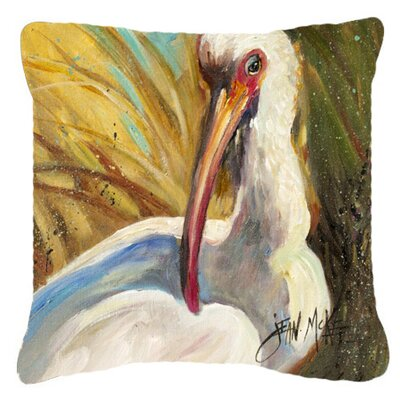 White Ibis Indoor/Outdoor Throw Pillow Size: 14 H x 14 W x 4 D