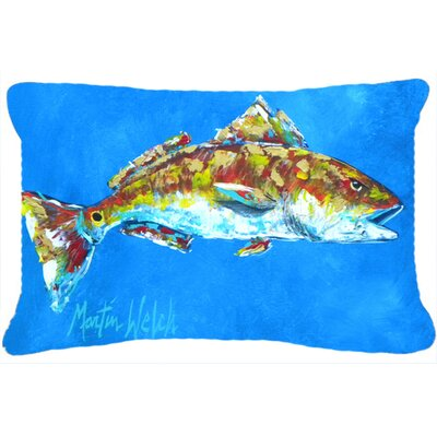 Red Fish Seafood II Indoor/Outdoor Throw Pillow