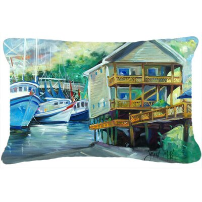 Ocean Springs Harbour Landing Indoor/Outdoor Throw Pillow