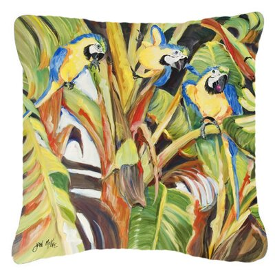 Parrots Indoor/Outdoor Throw Pillow Size: 18 H x 18 W x 5.5 D