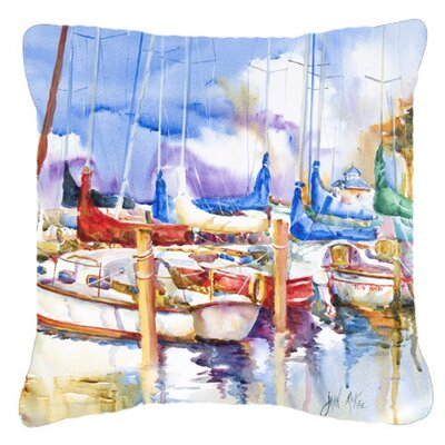Runaway Sailboats Indoor/Outdoor Throw Pillow Size: 14 H x 14 W x 4 D