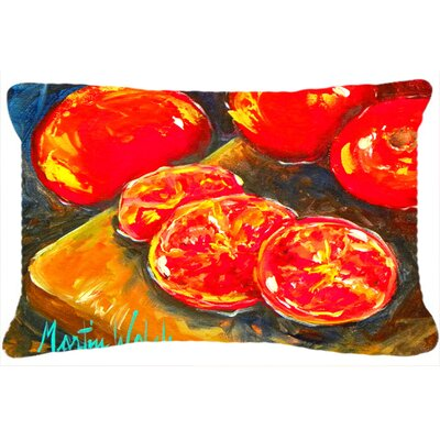 Tomatoes Slice It Up Indoor/Outdoor Throw Pillow