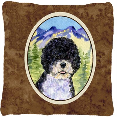 Portuguese Water Dog Graphic Print Indoor/Outdoor Throw Pillow