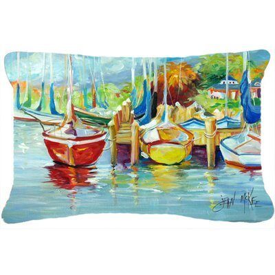 On The Dock Sailboats Indoor/Outdoor Throw Pillow