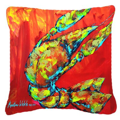 Crawfish Hot Craw Indoor/Outdoor Throw Pillow Size: 14 H x 14 W x 4 D