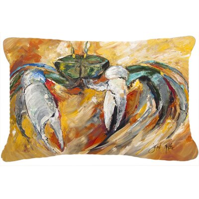 Blue Crab Graphic Print Indoor/Outdoor Throw Pillow