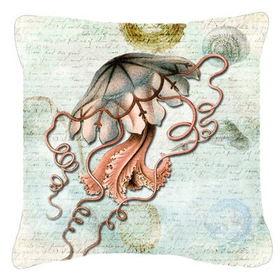 Jellyfish Indoor/Outdoor Throw Pillow Size: 18 H x 18 W x 5.5 D