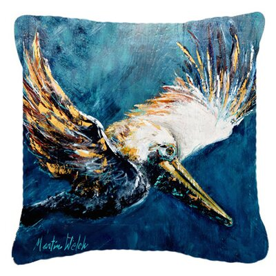 Pelican Go for It Indoor/Outdoor Throw Pillow Size: 14 H x 14 W x 4 D