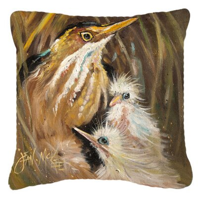 Brown Indoor/Outdoor Throw Pillow Size: 14 H x 14 W x 4 D