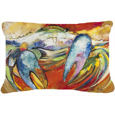 Blue/Orange/Green Crab Indoor/Outdoor Throw Pillow
