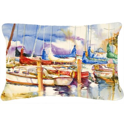 Run Away Sailboats Indoor/Outdoor Throw Pillow