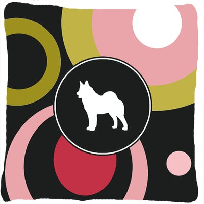 Norwegian Elkhound Indoor/Outdoor Throw Pillow