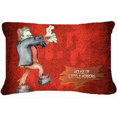 Little House of Horrors with Frankenstein Halloween Indoor/Outdoor Throw Pillow