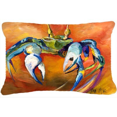 Blue Crab Fade Resistant Indoor/Outdoor Throw Pillow