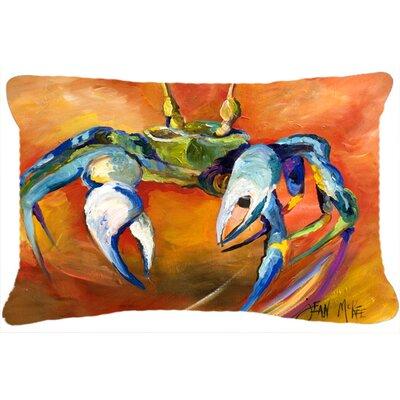 Blue Crab Indoor/Outdoor Throw Pillow