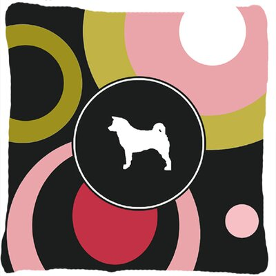 Akita Polka Dots Indoor/Outdoor Throw Pillow