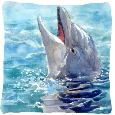 Dolphin Graphic Print Indoor/Outdoor Throw Pillow