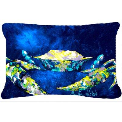 Crab Tealy Indoor/Outdoor Throw Pillow