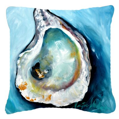Oyster Indoor/Outdoor Throw Pillow Size: 14 H x 14 W x 4 D