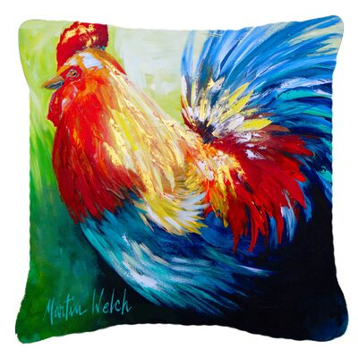 Jaiden Rooster Chief Big Feathers Square Indoor/Outdoor Throw Pillow Size: 14 H x 14 W x 4 D