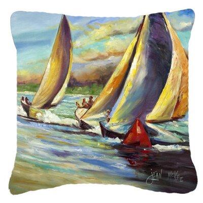 Arya Sailboats Indoor/Outdoor Throw Pillow Size: 14 H x 14 W x 4 D