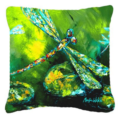Dragonfly Summer Flies Indoor/Outdoor Throw Pillow Size: 14 H x 14 W x 4 D