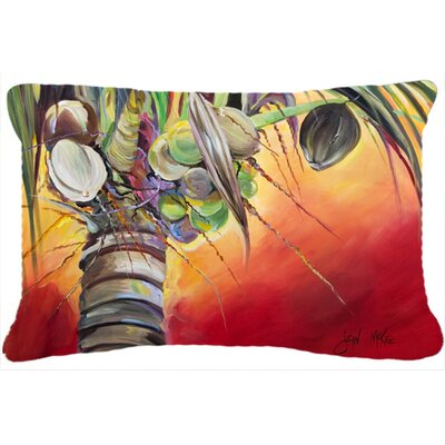 Sunset on The Coconut Tree Indoor/Outdoor Throw Pillow