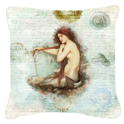 Mermaids and Mermen Indoor/Outdoor Throw Pillow Size: 14 H x 14 W x 4 D